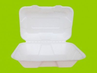 1000ml Envases compostables bisagra-altos-de caña azúcar.
